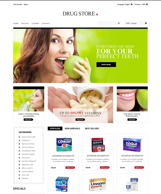 drug store medical prestashop themes 2