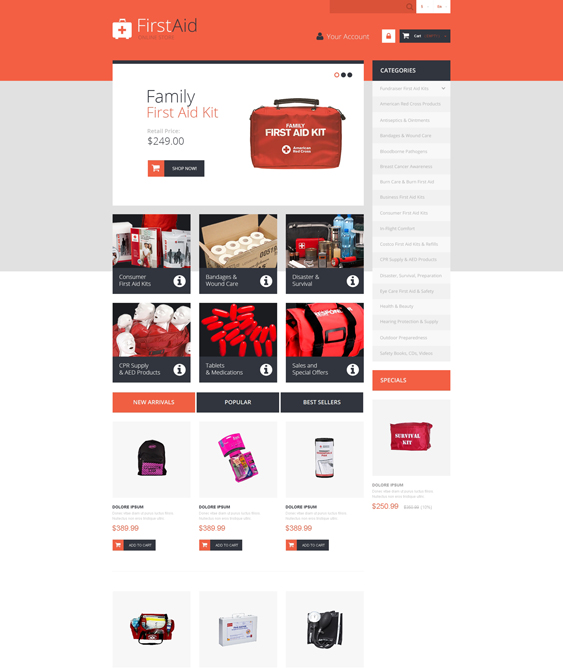 first aid medical prestashop themes 1