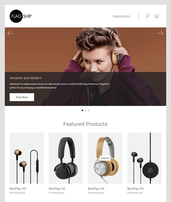 flagship music bigcommerce themes