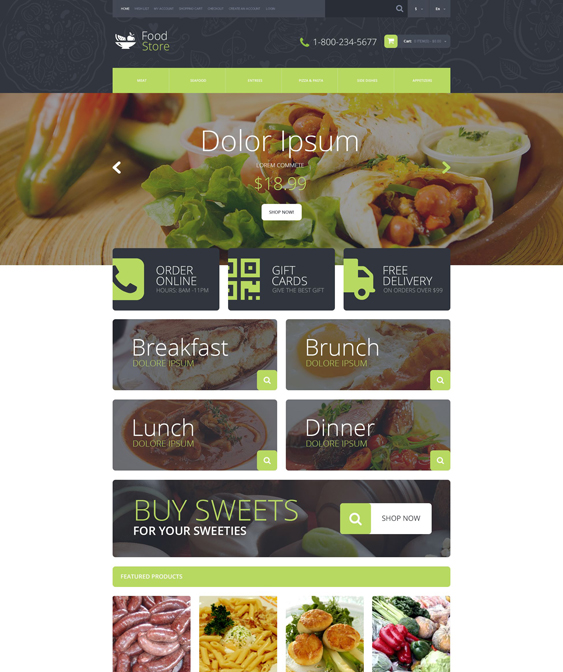 food shop drink restaurant opencart themes