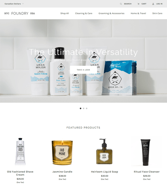 foundry light cosmetics beauty products bigcommerce themes