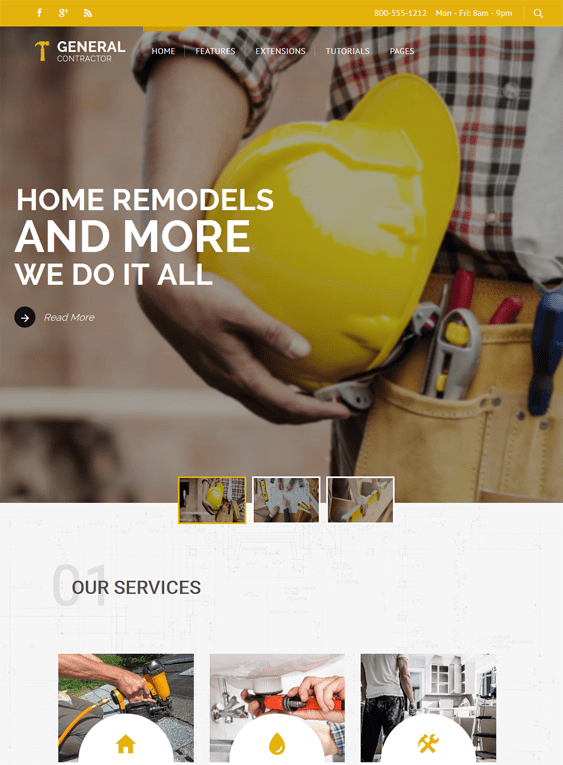 general contractor construction wordpress themes