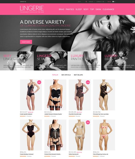 glamorous lingerie prestashop themes