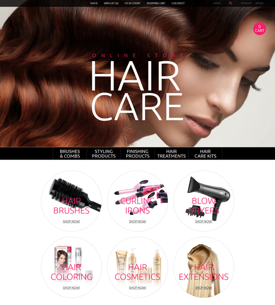 beauty products cosmetics hair care perfumes opencart themes 1