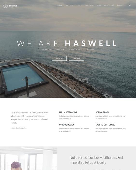 haswell parallax joomla templates
