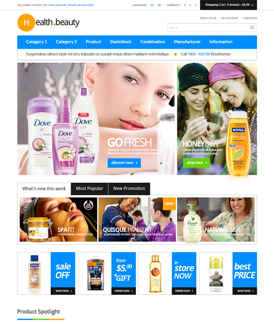 healthy beauty products cosmetics hair care perfumes opencart themes