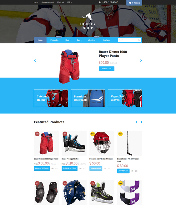 hockey sports shopify themes