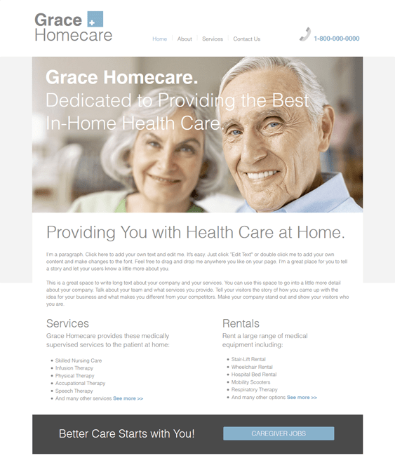 home healthcare medical wix templates