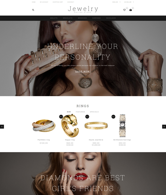 jewelry watch opencart themes