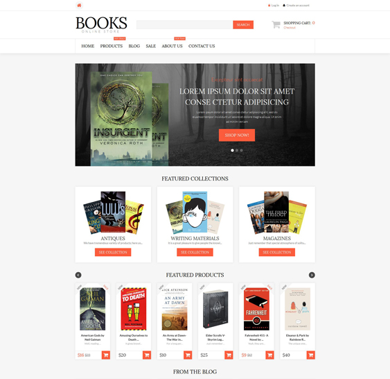 literature shopify themes books