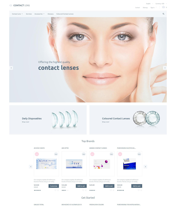 optometrist medical prestashop themes