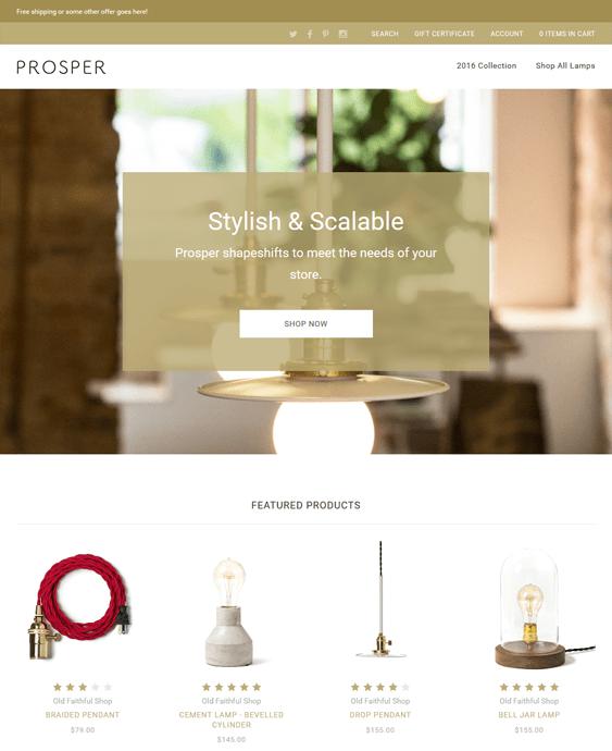 prosper bigcommerce themes home decor furniture