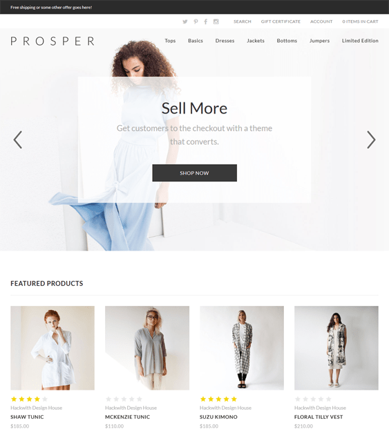 prosper clothing bigcommerce themes
