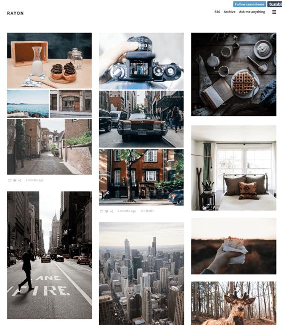 rayon masonry tumblr themes