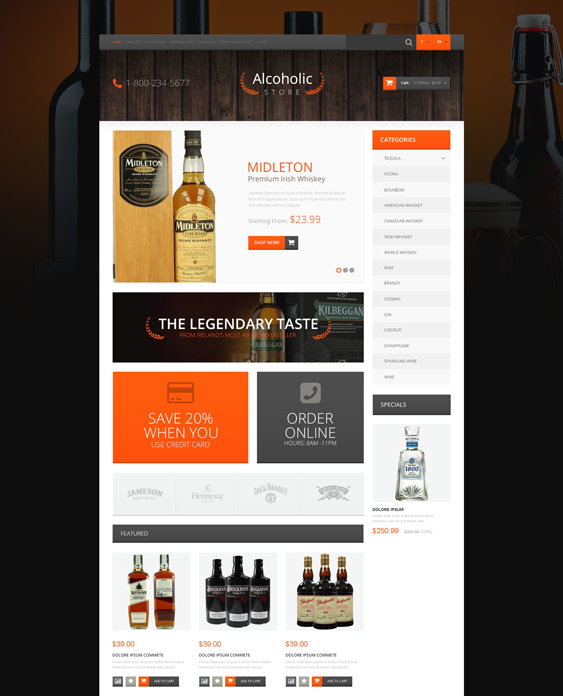 refined food drink restaurant opencart themes