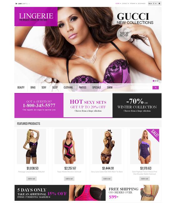 responsive lingerie prestashop themes 1