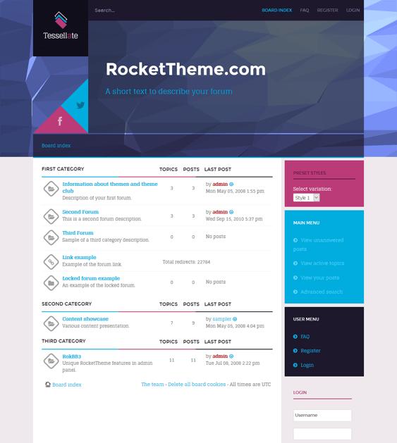 tesselate responsive phpbb3 themes