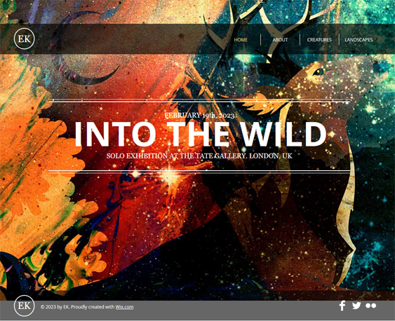 the artist portfolio wix templates
