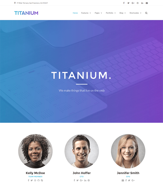 titanium parallax wordpress themes