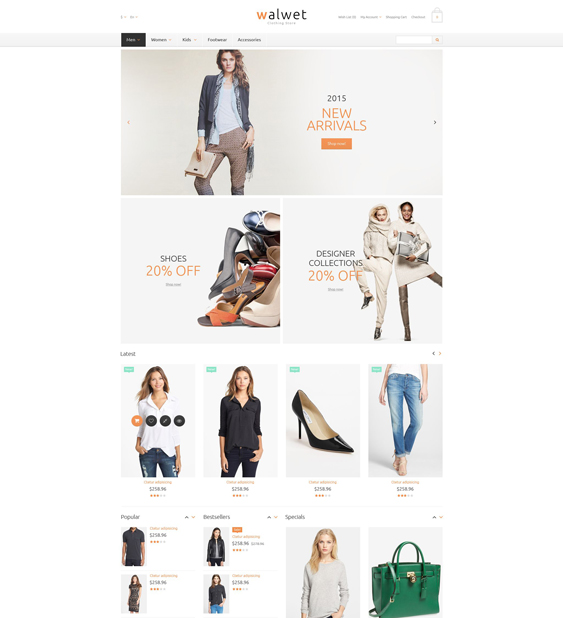 trendy minimal opencart themes 1