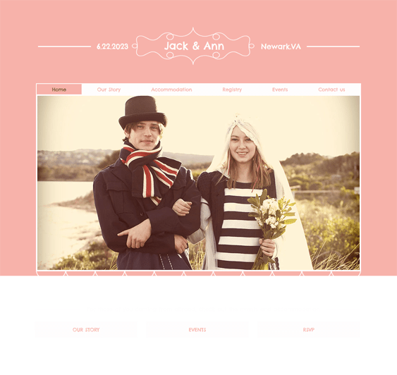 wedding wix templates website