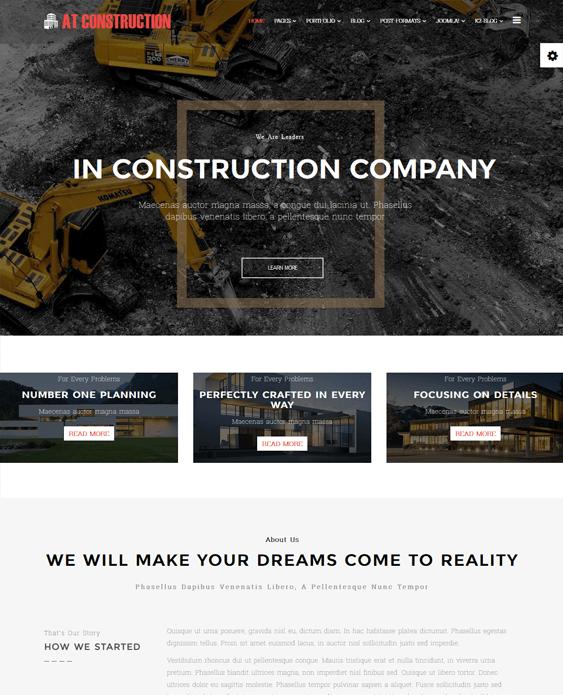 at construction contractors joomla templates