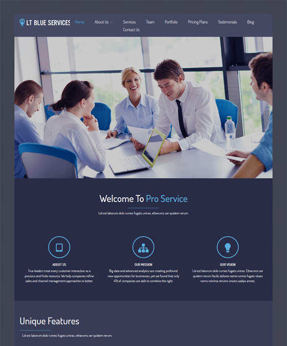 lt blue dark wordpress themes