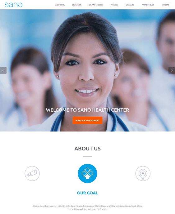 sano medical wordpress themes