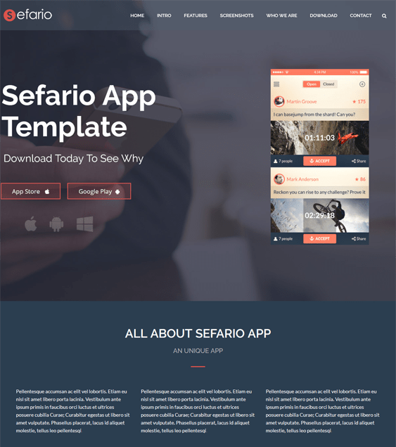 sefario dark wordpress themes
