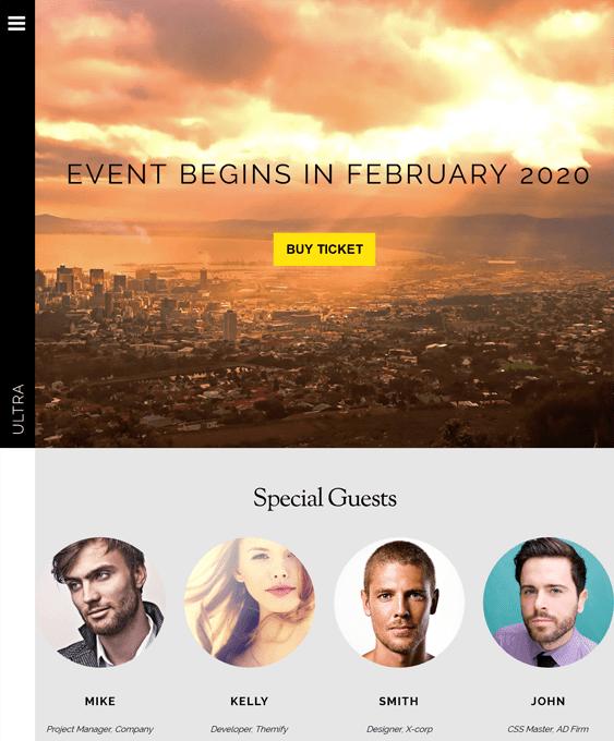 ultra events wordpress themes