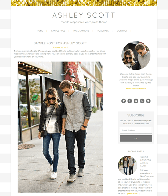 ashley feminine wordpress themes