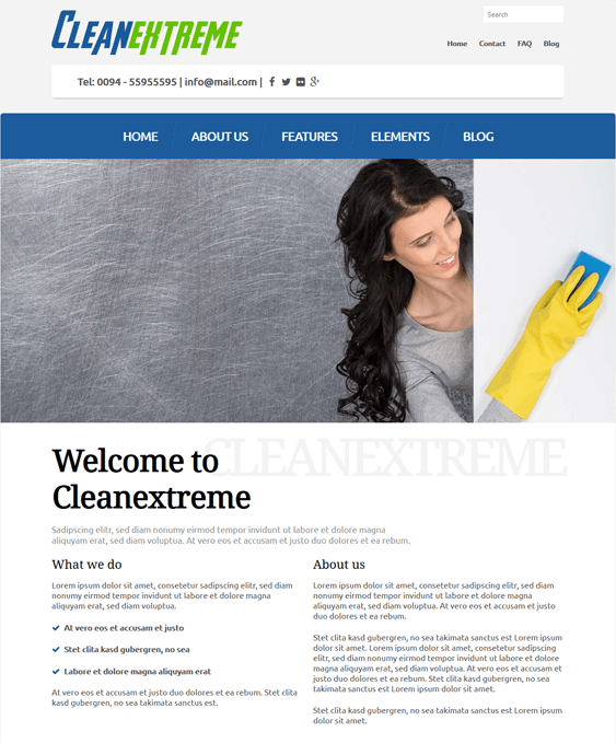 cleanextreme cleaning company wordpress themes