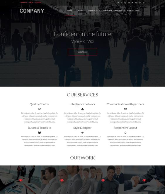 company business drupal themes