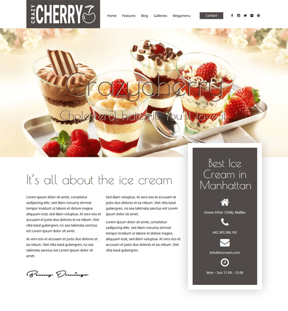 crazycherry restaurant wordpress themes
