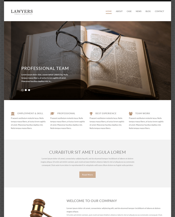 lawyer attorney wordpress themes