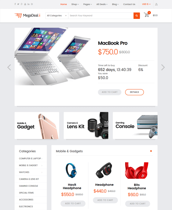 megadeal virtuemart themes