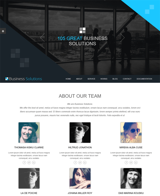 ot business one page joomla templates