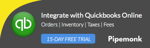 quickbooks pipemonk shopify apps