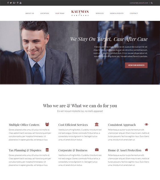 the core lawyer attorney wordpress themes