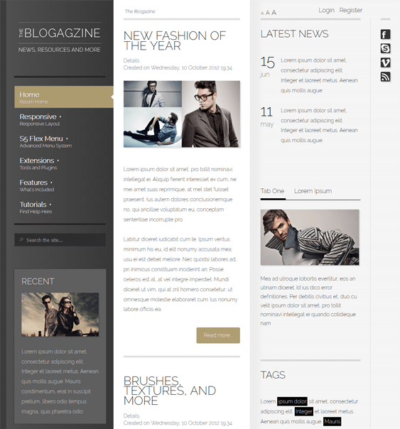 blogazine magazine news wordpress themes