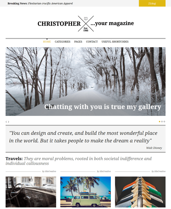 christopher magazine news wordpress themes