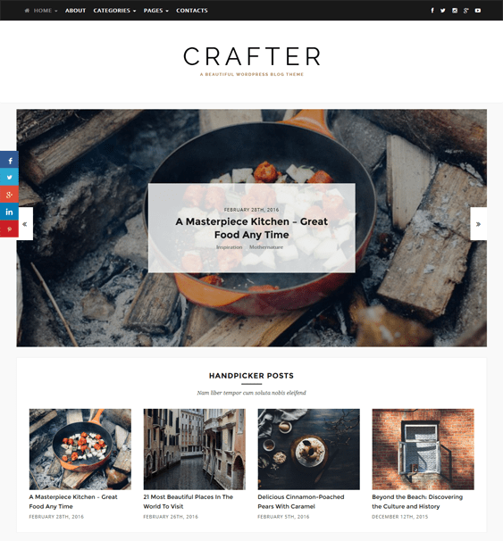crafter magazine news wordpress themes