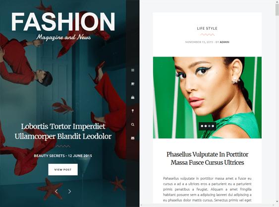 fashion magazine news wordpress themes