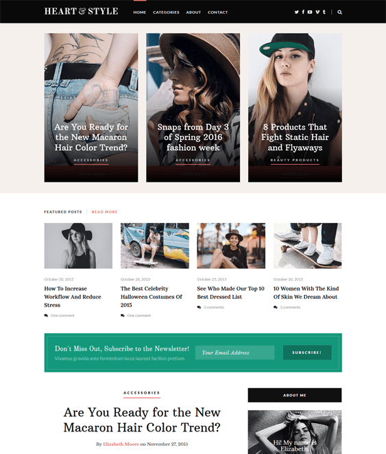 heart style magazine news wordpress themes