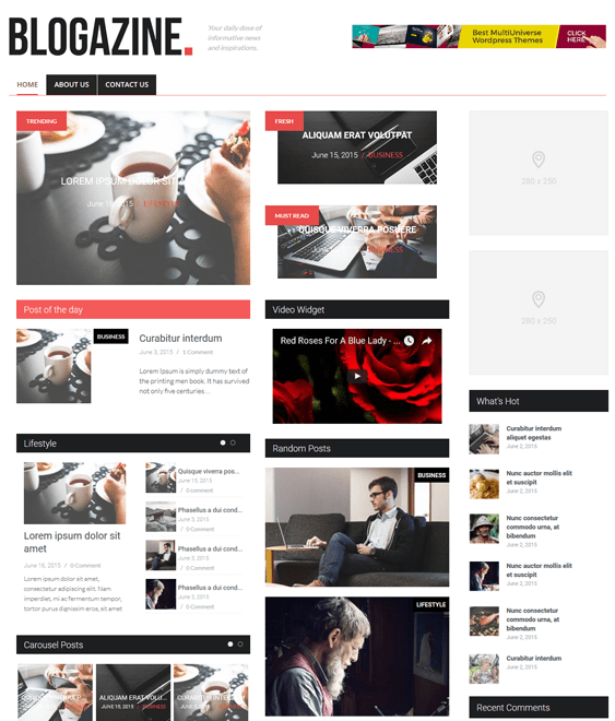 hybrid magazine news wordpress themes