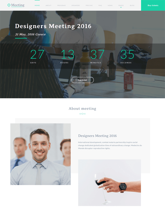 meeting events wordpress themes