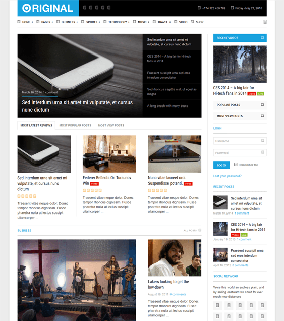 original magazine news wordpress themes