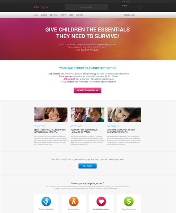 simple charity nonprofit wordpress themes