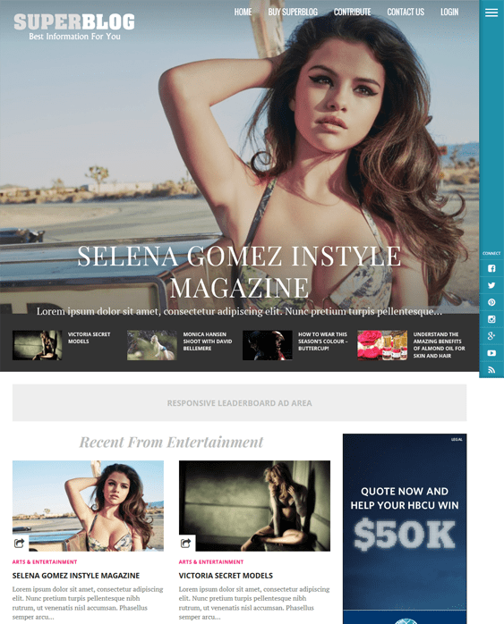 superblog magazine news wordpress themes