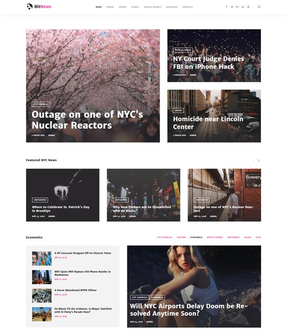 bitnews travel wordpress themes